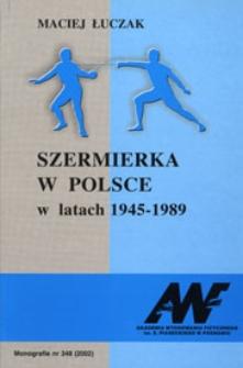Szermierka w Polsce w latach 1945-1989