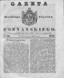 Gazeta Wielkiego Xięstwa Poznańskiego 1842.02.12 Nr36