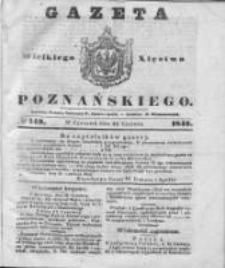 Gazeta Wielkiego Xięstwa Poznańskiego 1842.06.30 Nr149