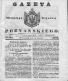 Gazeta Wielkiego Xięstwa Poznańskiego 1842.08.18 Nr191