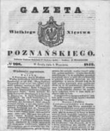 Gazeta Wielkiego Xięstwa Poznańskiego 1842.09.07 Nr208