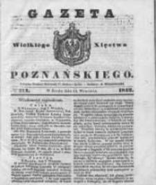 Gazeta Wielkiego Xięstwa Poznańskiego 1842.09.14 Nr214