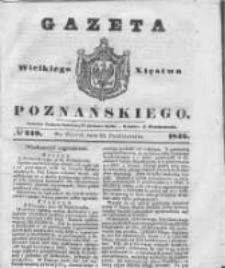 Gazeta Wielkiego Xięstwa Poznańskiego 1842.10.25 Nr249