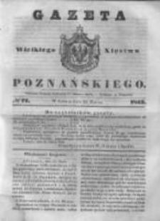Gazeta Wielkiego Xięstwa Poznańskiego 1843.03.25 Nr72