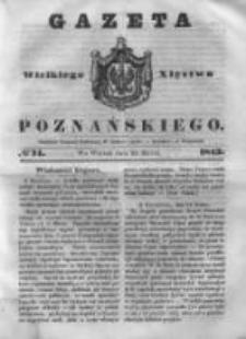 Gazeta Wielkiego Xięstwa Poznańskiego 1843.03.28 Nr74