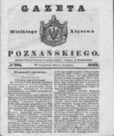 Gazeta Wielkiego Xięstwa Poznańskiego 1842.12.01 Nr281