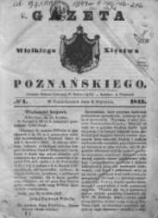 Gazeta Wielkiego Xięstwa Poznańskiego 1843.01.02 Nr1