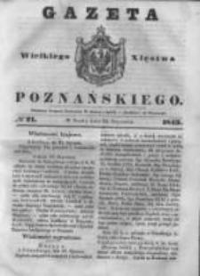 Gazeta Wielkiego Xięstwa Poznańskiego 1843.01.25 Nr21