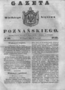 Gazeta Wielkiego Xięstwa Poznańskiego 1843.02.17 Nr41