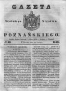 Gazeta Wielkiego Xięstwa Poznańskiego 1843.02.18 Nr42