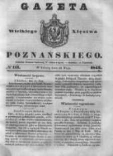 Gazeta Wielkiego Xięstwa Poznańskiego 1843.05.13 Nr111