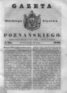 Gazeta Wielkiego Xięstwa Poznańskiego 1843.05.20 Nr117