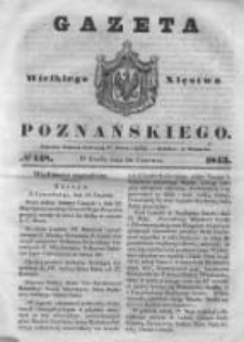 Gazeta Wielkiego Xięstwa Poznańskiego 1843.06.28 Nr148