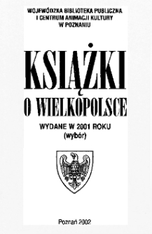 Książki o Wielkopolsce wydane w 2001 roku (wybór)