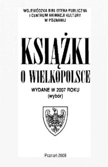 Książki o Wielkopolsce wydane w 2007 roku (wybór)
