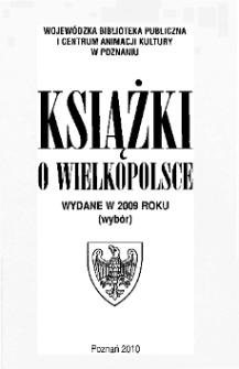 Książki o Wielkopolsce wydane w 2009 roku (wybór)