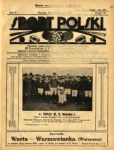 SSport Polski: oficjalny organ Polskiego Związku Lawn-Tenisowego, Poznańskiego Z. O. P. N. i Poznańskiego O. Z. L. A.: ogłasza również komunikaty oficjalne Polskiego Związku Piłki Nożnej 1922.06.10 R.2 Z.14