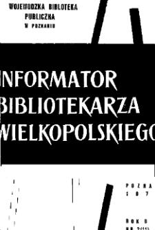 Informator Bibliotekarza Wielkopolskiego : R. V. 1972 nr 2 (11)