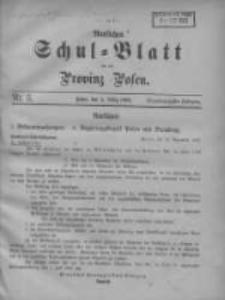 Amtliches Schul-Blatt für die Provinz Posen 1908.03.05 Jg.41 Nr5