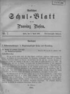 Amtliches Schul-Blatt für die Provinz Posen 1908.04.05 Jg.41 Nr7