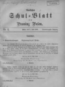 Amtliches Schul-Blatt für die Provinz Posen 1908.06.05 Jg.41 Nr11