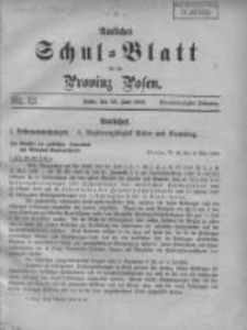 Amtliches Schul-Blatt für die Provinz Posen 1908.06.20 Jg.41 Nr12