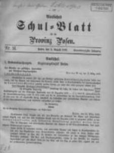 Amtliches Schul-Blatt für die Provinz Posen 1908.08.05 Jg.41 Nr14