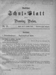 Amtliches Schul-Blatt für die Provinz Posen 1908.10.05 Jg.41 Nr18