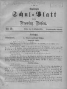 Amtliches Schul-Blatt für die Provinz Posen 1908.10.20 Jg.41 Nr19