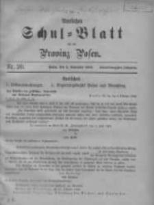 Amtliches Schul-Blatt für die Provinz Posen 1908.11.05 Jg.41 Nr20