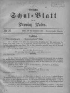 Amtliches Schul-Blatt für die Provinz Posen 1908.11.20 Jg.41 Nr21