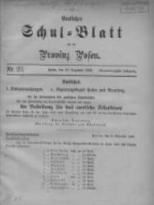 Amtliches Schul-Blatt für die Provinz Posen 1908.12.20 Jg.41 Nr23