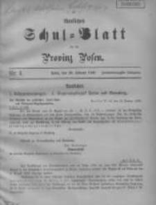 Amtliches Schul-Blatt für die Provinz Posen 1909.02.20 Jg.42 Nr4