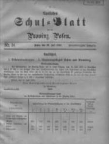 Amtliches Schul-Blatt für die Provinz Posen 1909.07.20 Jg.42 Nr14
