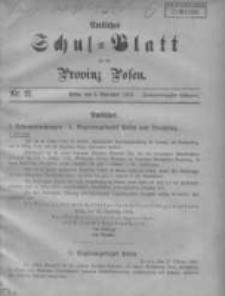 Amtliches Schul-Blatt für die Provinz Posen 1909.11.05 Jg.42 Nr21