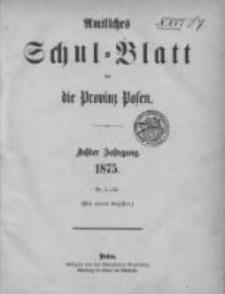 Amtliches Schul-Blatt für die Provinz Posen 1875.01.09 Jg.8 Nr1