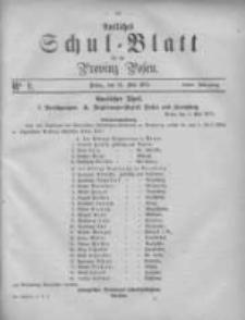 Amtliches Schul-Blatt für die Provinz Posen 1875.05.15 Jg.8 Nr9
