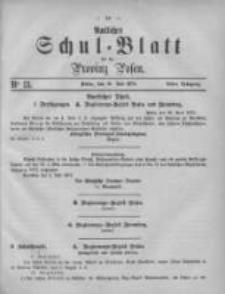 Amtliches Schul-Blatt für die Provinz Posen 1875.07.10 Jg.8 Nr13