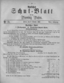 Amtliches Schul-Blatt für die Provinz Posen 1875.10.02 Jg.8 Nr19