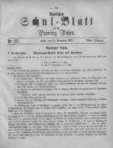 Amtliches Schul-Blatt für die Provinz Posen 1875.11.13 Jg.8 Nr22