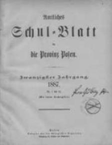 Amtliches Schul-Blatt für die Provinz Posen 1887.01.20 Jg.20 Nr1