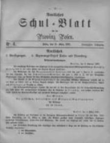 Amtliches Schul-Blatt für die Provinz Posen 1887.03.14 Jg.20 Nr4
