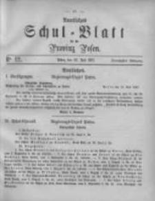 Amtliches Schul-Blatt für die Provinz Posen 1887.07.23 Jg.20 Nr12