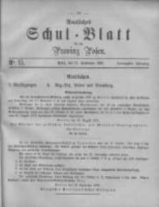 Amtliches Schul-Blatt für die Provinz Posen 1887.08.17 Jg.20 Nr15