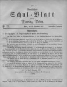 Amtliches Schul-Blatt für die Provinz Posen 1887.10.14 Jg.20 Nr19