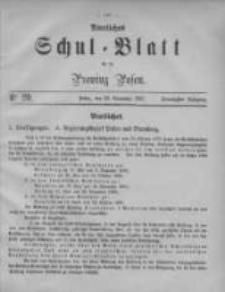 Amtliches Schul-Blatt für die Provinz Posen 1887.10.28 Jg.20 Nr20