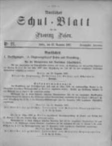 Amtliches Schul-Blatt für die Provinz Posen 1887.12.23 Jg.20 Nr21