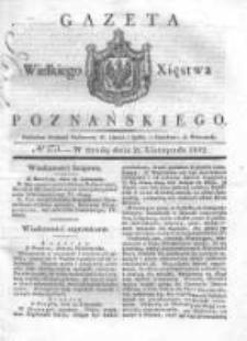 Gazeta Wielkiego Xięstwa Poznańskiego 1832.11.21 Nr273