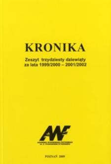 Kronika. Akademia Wychowania Fizycznego im. Eugeniusza Piaseckiego w Poznaniu Z.39 1999/00-2001/02