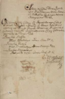 Taryffa Laneorum in Bonis Congregationis Gostin[ensis] S[ancti] Philippi Nerei. In Costen 1763 [tyt. z noty dors.]